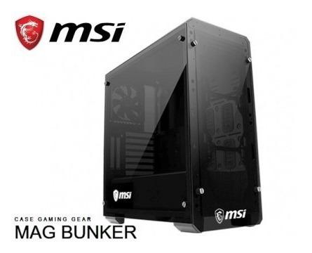 gabinete mag bunker msi - doble vidrio / filtros imant