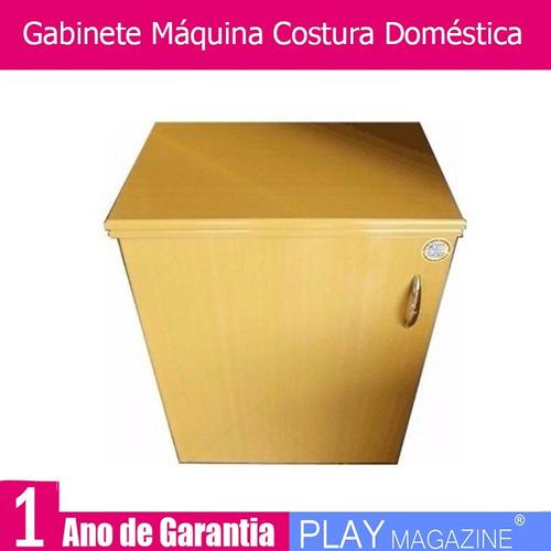 gabinete máquina costura doméstica singer/ elgin / vigoreli