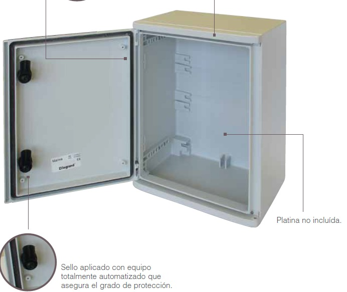 Gabinete Metalico Legrand 500 X 400 X 200 Atlantic