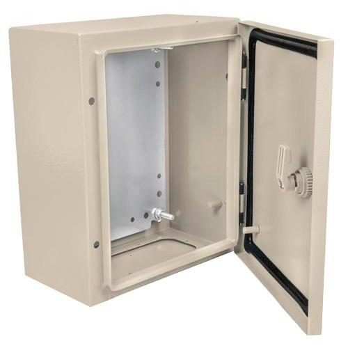 Gabinete metalico proteccion ip 66 30 x 25 cm voltech for Gabinete de pared 10 ru