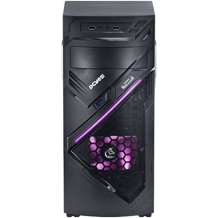gabinete mid tower chacal rosa 01 fan led frontal - pcyes