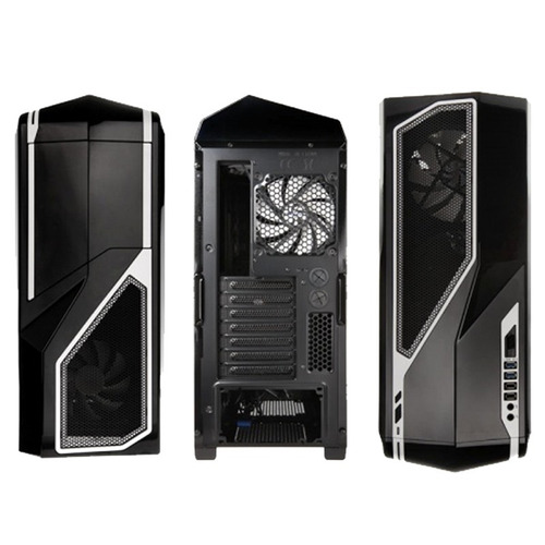 gabinete mid tower nzxt phantom 410 black fans x 3 usb 3.0