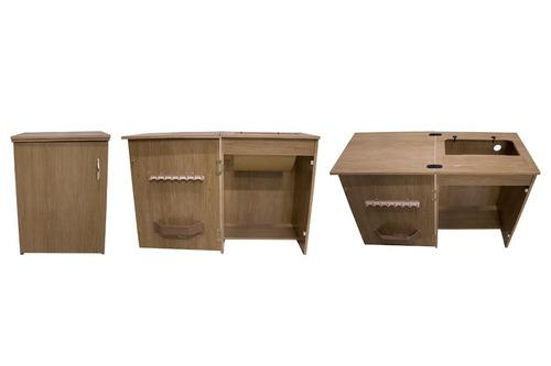 gabinete móvel máquina de costura elgin zig zag super
