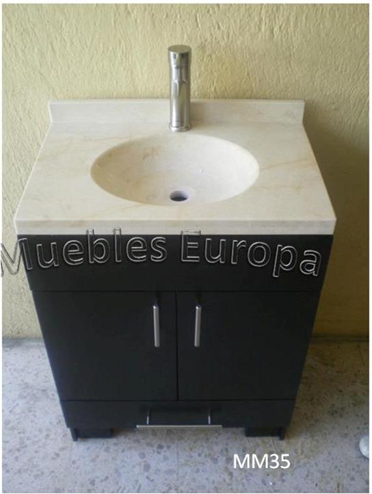 Gabinete mueble ba o con loza de marmol lavabo c monomando - Accesorios de loza para bano ...
