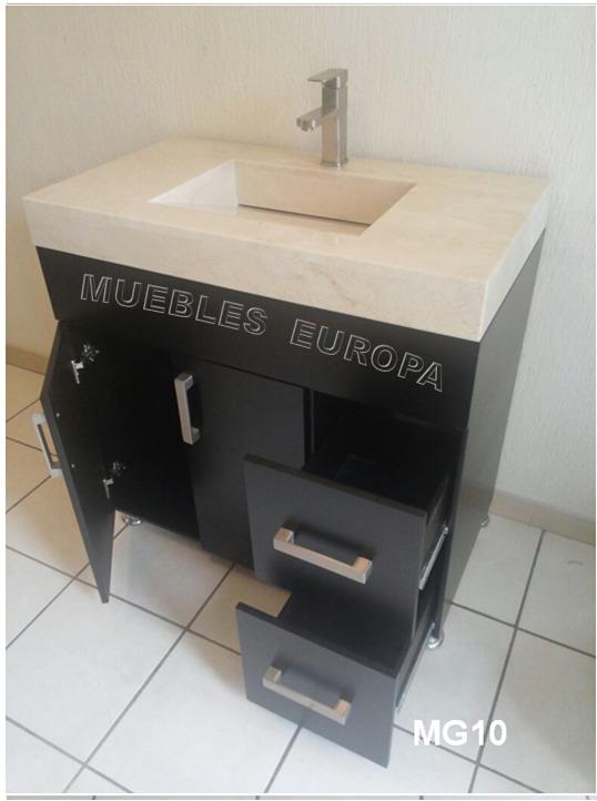 Gabinete mueble ba o moderno lavabo marmol c monomando 8 en mercado libre - Altura mueble bano ...