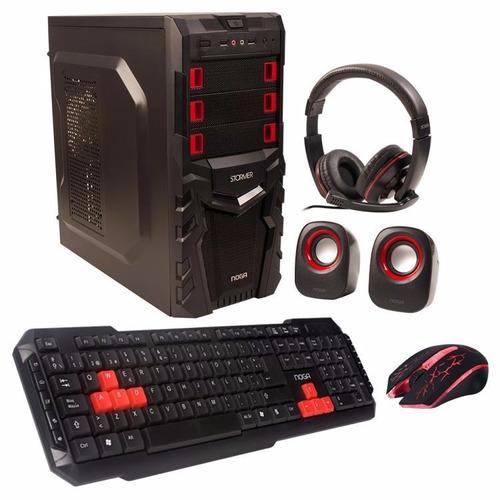 gabinete noga gamer combo stormer ar2 led + kit c/fuente 550