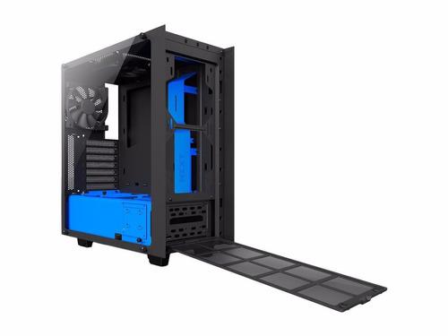 gabinete nzxt s340 elite preto azul vidro ca-s340w-b4