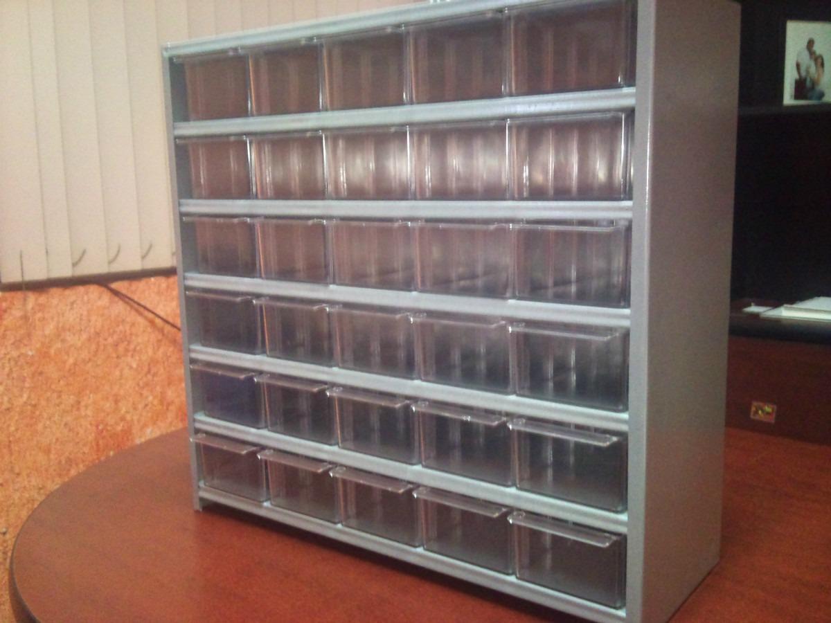 Gabinete Organizador Cajonera Metalico 30 Gaveta De Plastico  $ 250