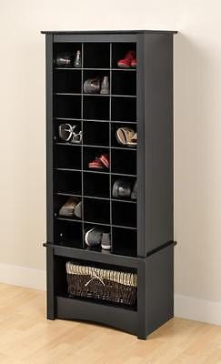 gabinete organizador para zapato prepac en negro