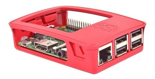gabinete original raspberry blanco y rojo pi 2b pi 3b pi 3b+
