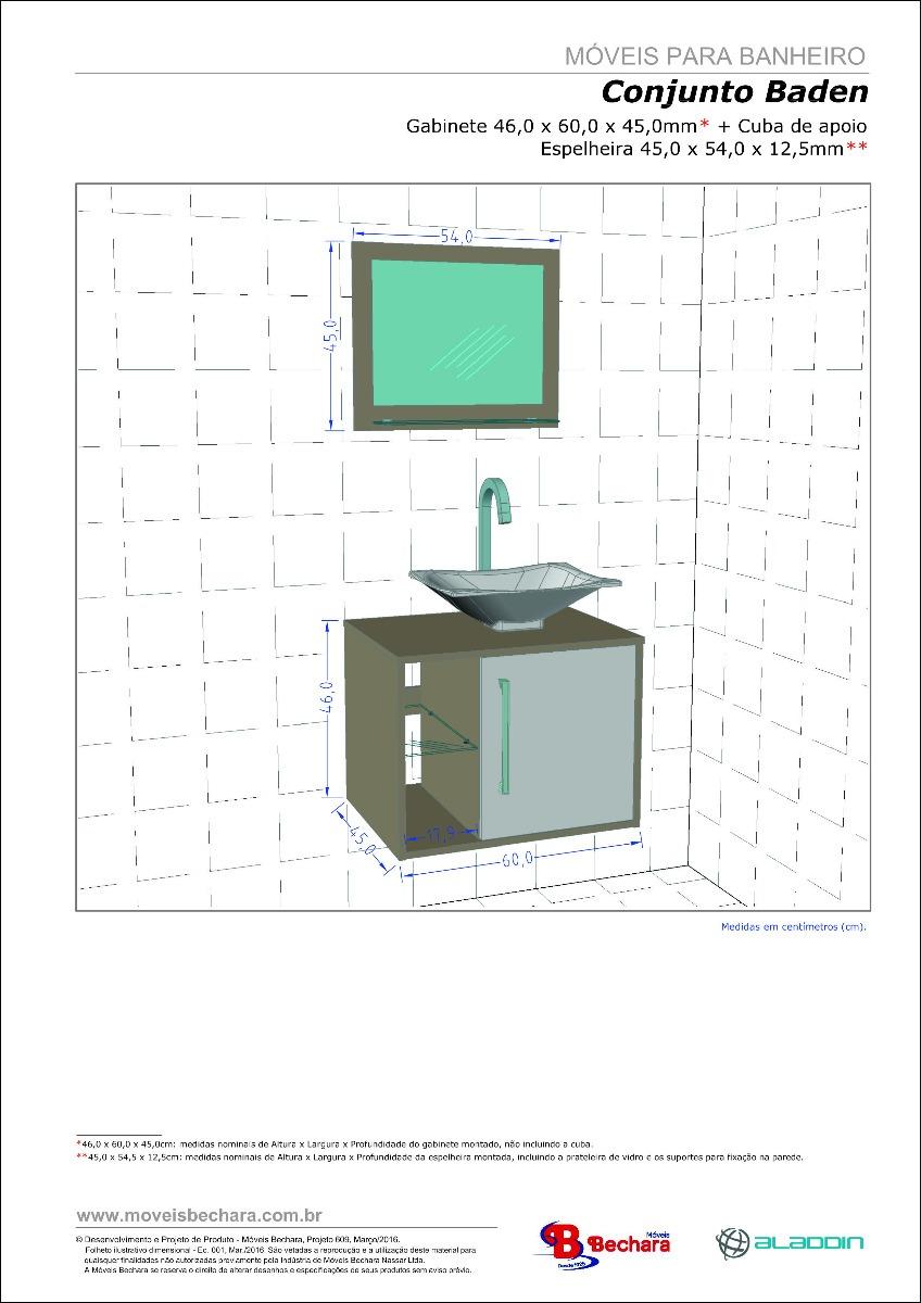 Gabinete Para Banheiro Baden C Cuba Espelheira Bechara R 272 90 Em Mercado Livre