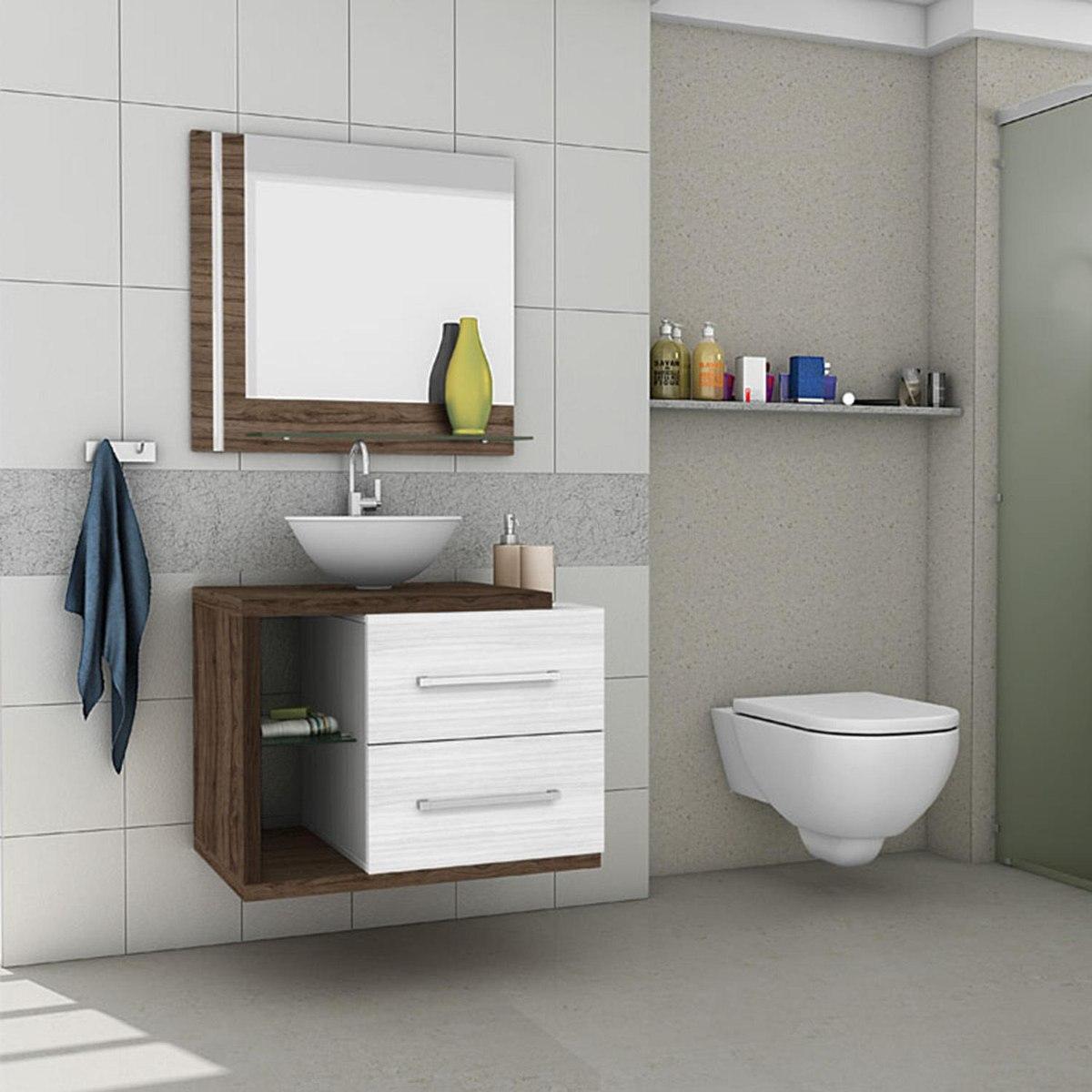 Gabinete para banheiro com espelheira mil o ii m veis r for Armarios para lavabos
