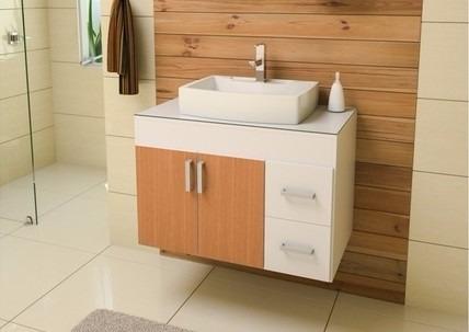 gabinete para banheiro veneza 80 sem espelheira