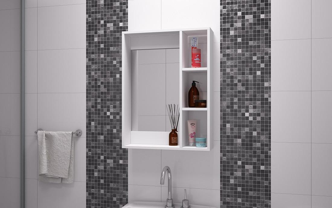 Gabinete pared para ba o con espejo y repisas bbn 03 06 Repisas de bano homecenter
