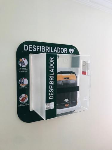 gabinete para desfibrilador dea con sistema de alarma