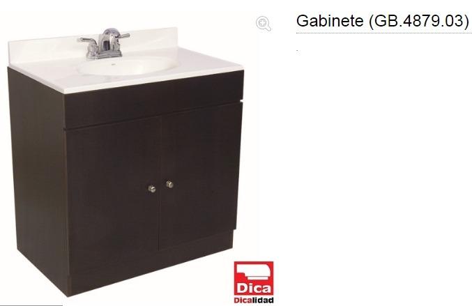 Gabinete para lavabo 48x79 dica chocolate 3 en for Gabinete para lavabo
