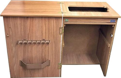 gabinete para maquina costura doméstica elgin zig zag super