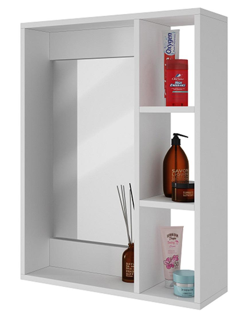 Gabinete pared para ba o con espejo y repisas bbn 03 06 for Gabinetes para bano en madera