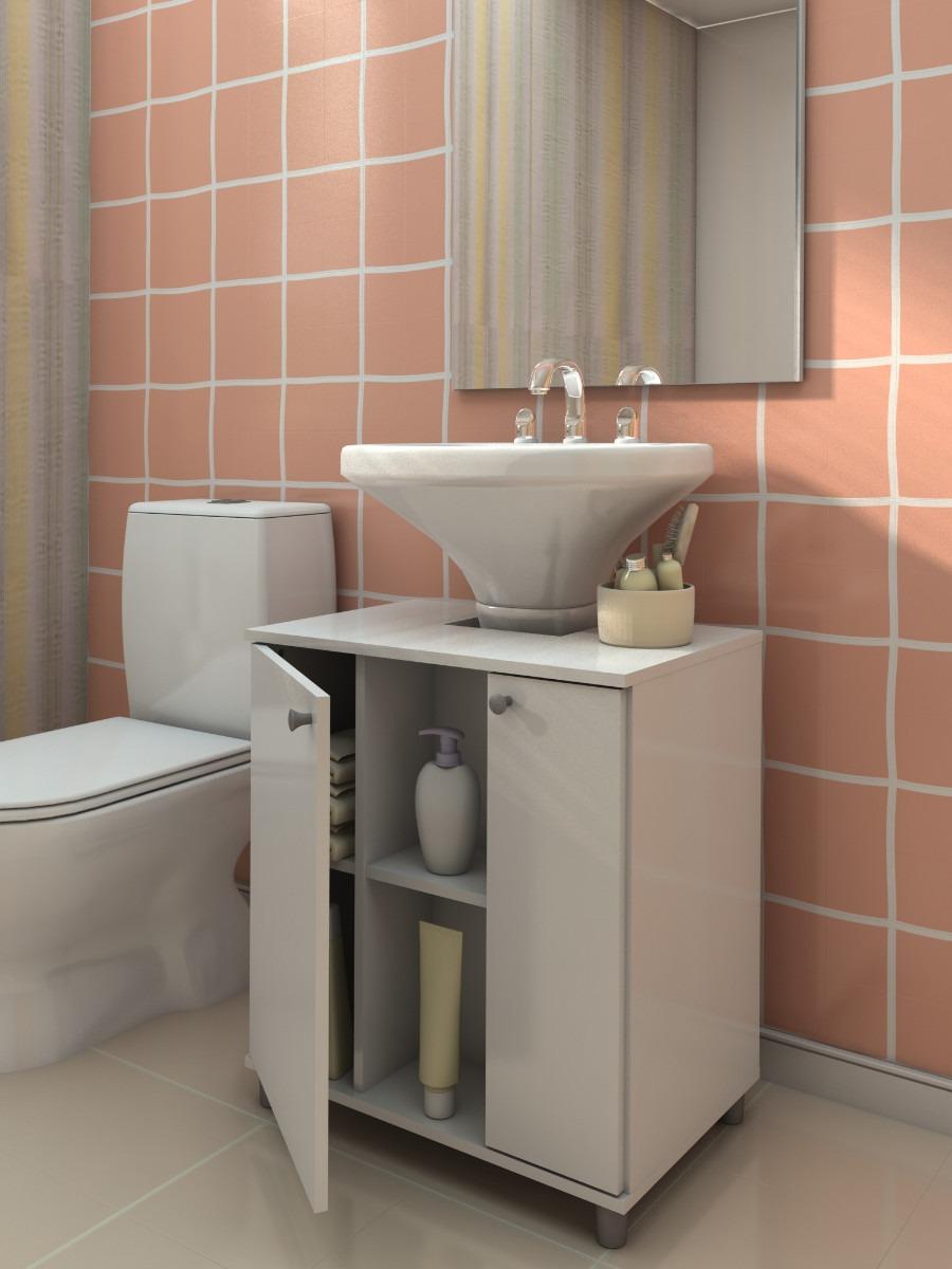 Gabinete Pbanheiro Espelho E Armário  R$ 276,00 em Mercado Livre -> Armario De Banheiro Com Espelho Crismetal