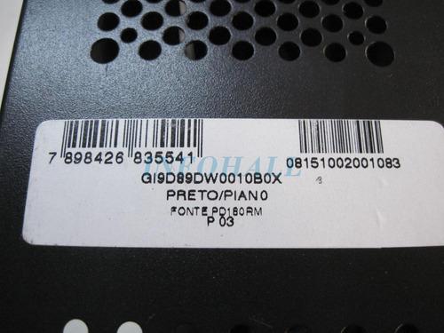 gabinete pc 2 baias preto compact 1027