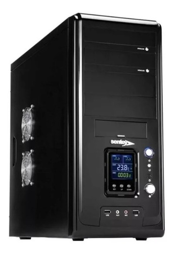 gabinete pc gamer sentey ds1 mid tower 4 coolers lcd frontal