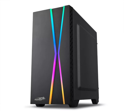 gabinete pc gaming sentey x10 rgb acrilic usb 3.0 sin fuente