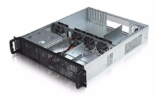 gabinete rackeable 2u 19 2u550 sfx 3x bahias 2x usb gtia