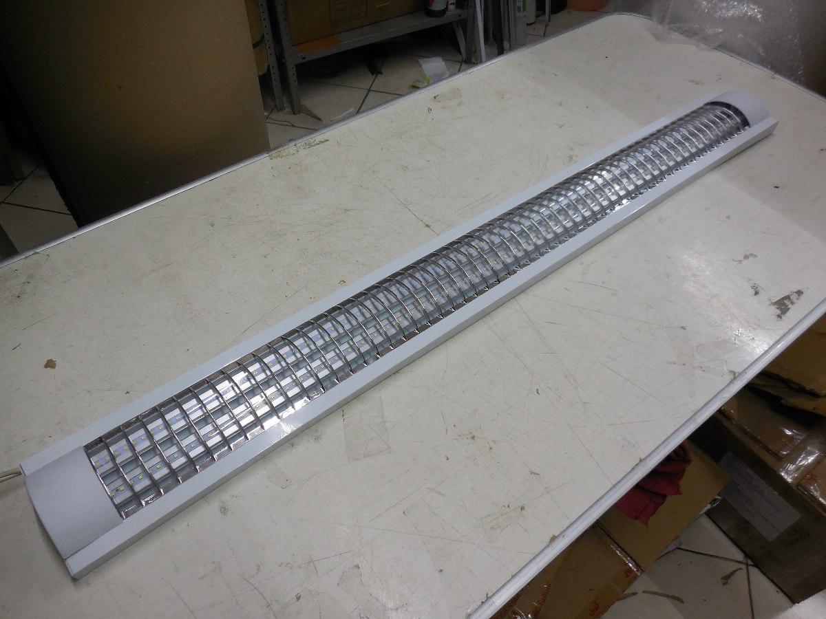 Gabinete rejilla mts 2 tubo led t8 18w incluido - Fluorescente led precio ...