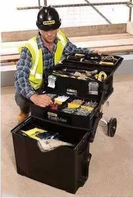 gabinete rodante caja fatmax porta herramientas stanley