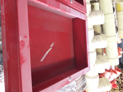 gabinete rojo manguera de incendio 80x60cm sin vidrio