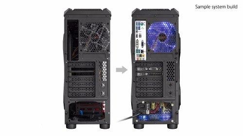 gabinete sentey triac gs-6009 gamer ssd usb 3.0 atx 2 fans