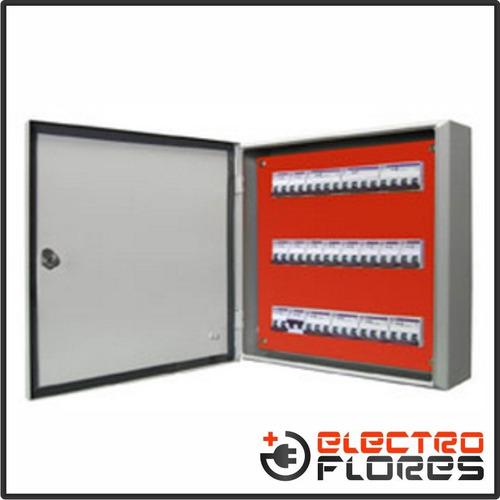 gabinete tablero estanco chapa ip65 p/termicas 108 bocas