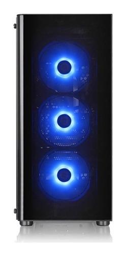gabinete thermaltake v200tg lateral vidrio 3 fanes rgb