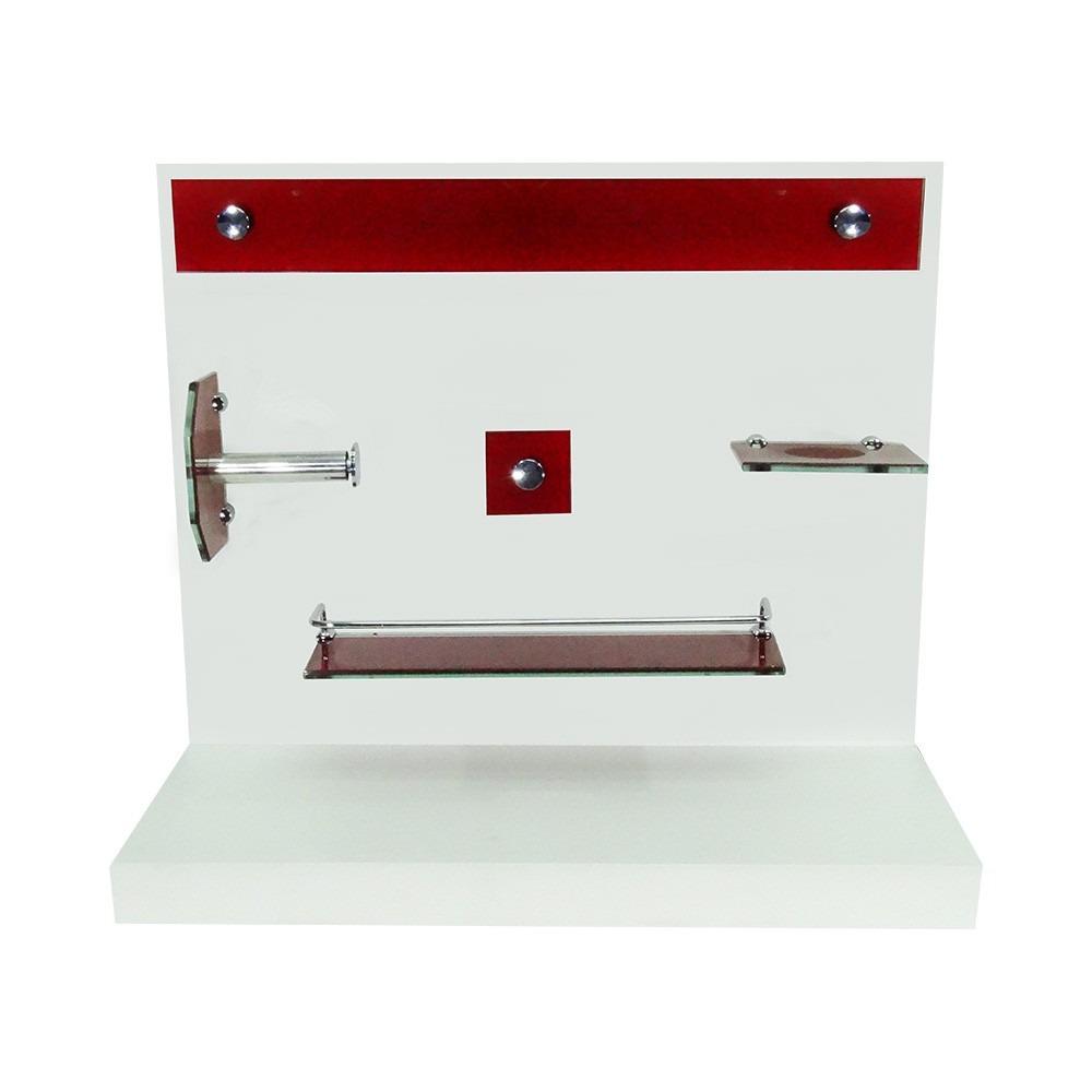 Kit para banheiro de vidro vermelho : Gabinete vidro faixas cm vermelho misturador kit