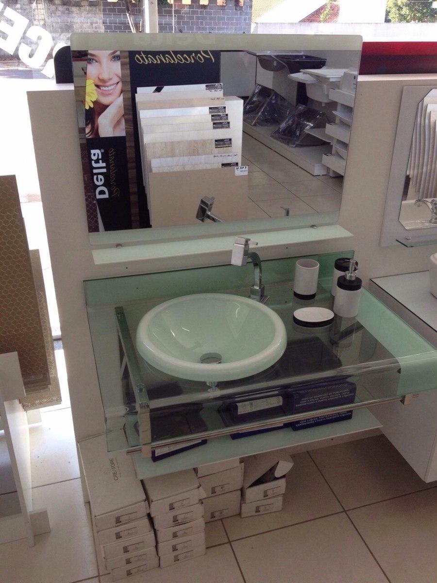 Gabinete Vidro Banheiro Chopin  Estilo Astra Branco 90cm  R$ 949,90 em Merc -> Gabinete De Banheiro Astra