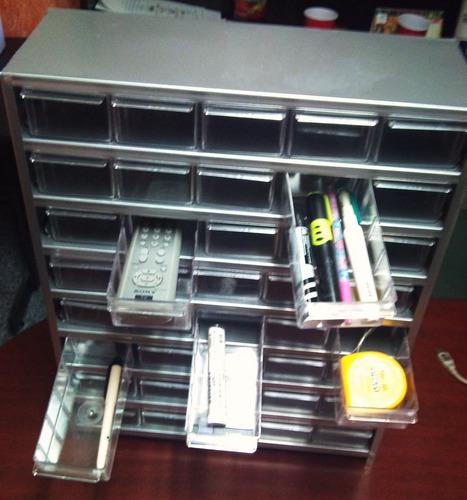 gabinete visible 40 gavetas metalico cajonera anaquel cajas