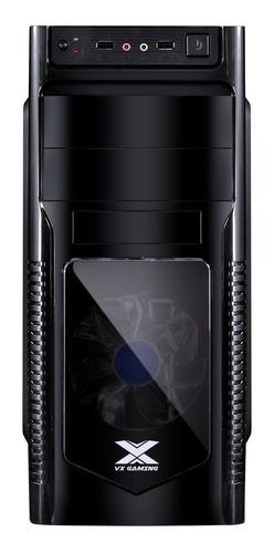 gabinete vx gaming orion com 1 fan led azul frontal acrilico