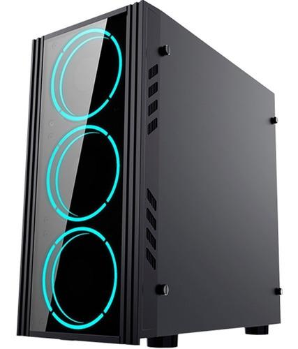 gabinete yeyian kalt 1101  micro atx negro acrilico 1 led