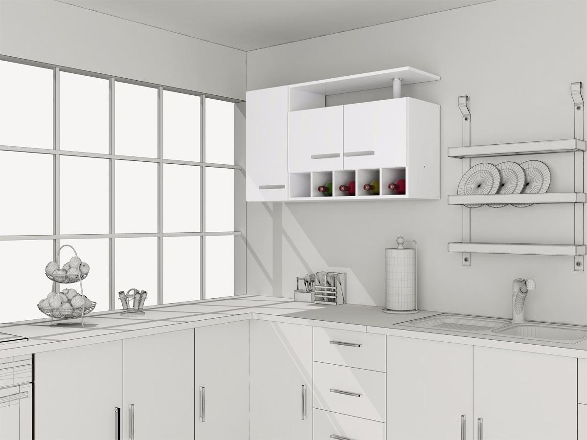 Gabinetes cocina muebles 3 puertas aereo casalista en for Muebles de cocina planos pdf