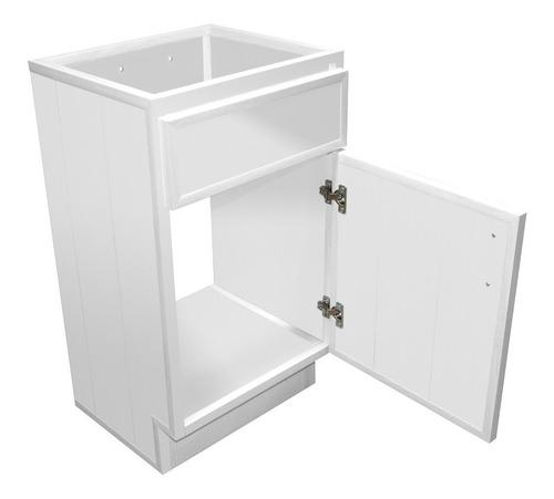 gabinetes de baño de pvc blanco, 1 puerta tipo panel