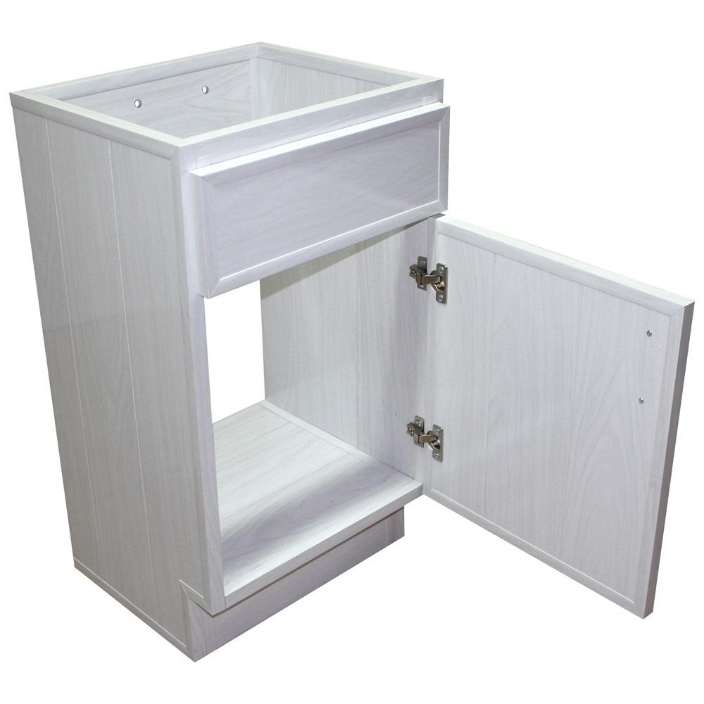 Gabinetes de ba o de pvc blanco lavado 1 puerta tipo for Gabinetes para bano df