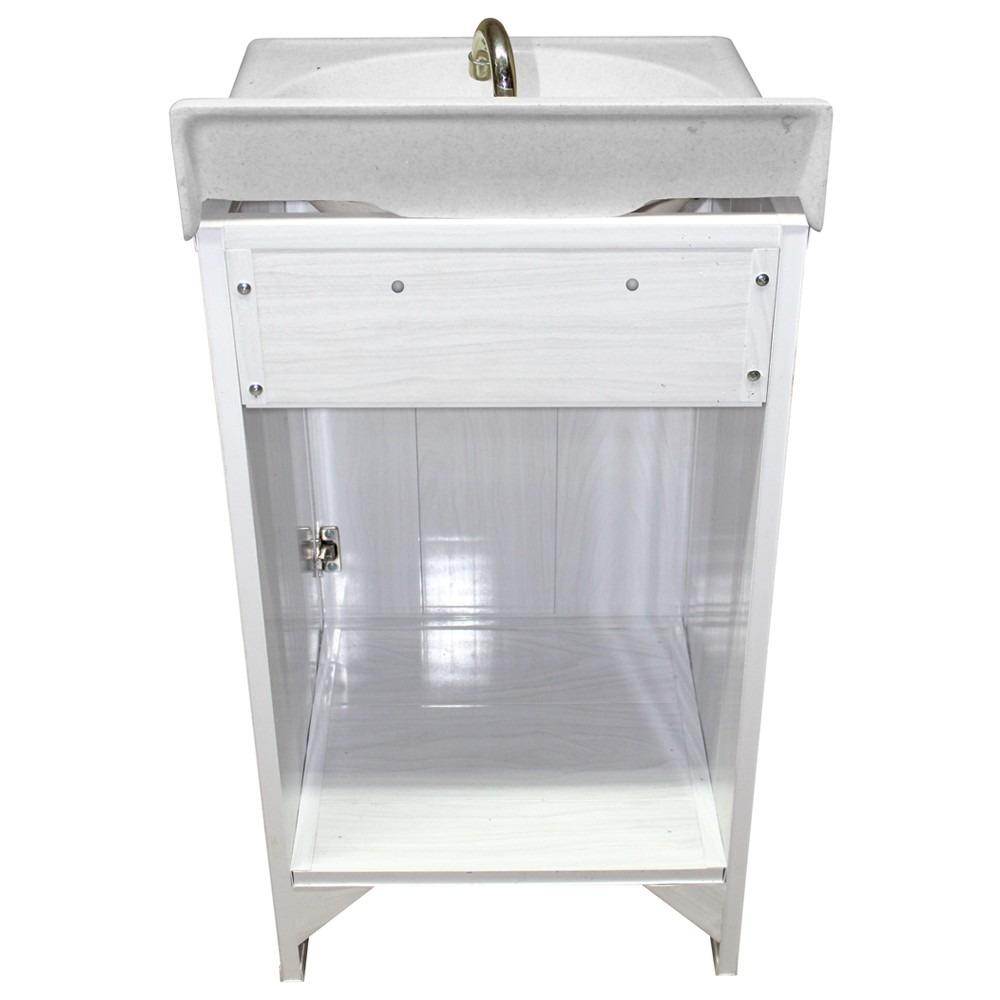Gabinetes de ba o de pvc blanco lavado 1 puerta tipo for Gabinetes para bano economicos