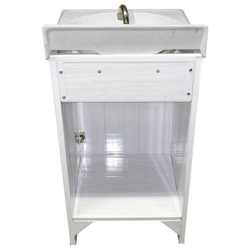 Gabinetes de ba o de pvc blanco lavado 1 puerta tipo for Gabinetes de bano df