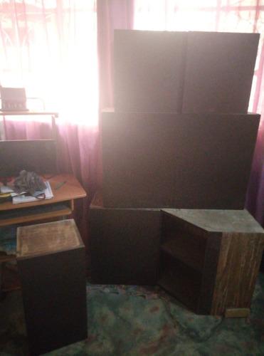 gabinetes de cocina 3 metros lineales. formica color wengue