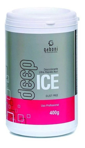 gaboni pó descolorante azul deep ice ultra rápido 400g