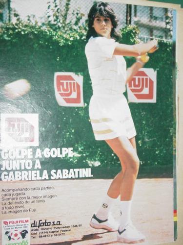 gabriela sabatini publicidad peliculas fotografias fuji