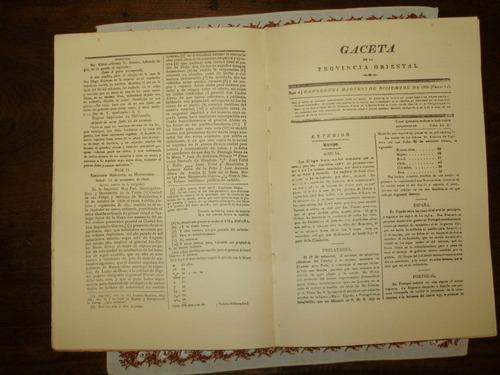 gaceta de la provincia oriental canelones 1826-27 numerado