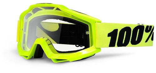 gafas 100% accuri mx juvenil lente transparente amarillo