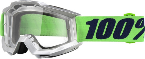 gafas 100% accuri nova 2016 snow lente transparente/verde/