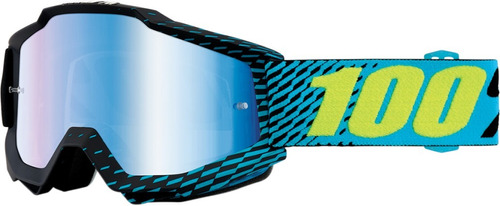 gafas 100% accuri r-core mx/offroad espejadas azul/ os
